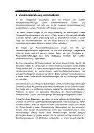 6 Zusammenfassung und Ausblick - Ruhr-Universität Bochum