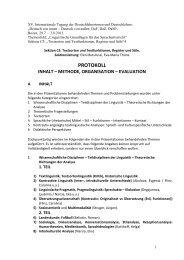 protokoll inhalt – methode, organisation – evaluation