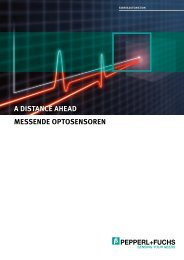 A distance ahead - Messende Optosensoren - Pepperl+Fuchs