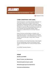 Newsletter 11/2013 - Kursnet - Bundesagentur für Arbeit