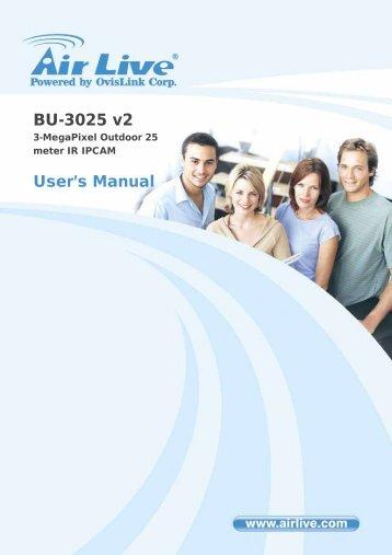 BU-3025 v2 User's Guide - AirLive