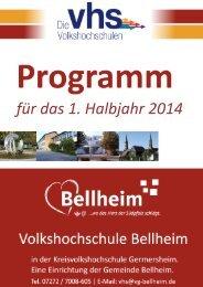 VHS-Programm 1-2014