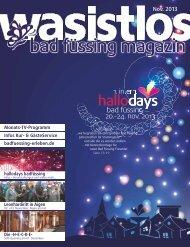 wasistlos bad füssing magazin - Nov 2013 - Bad Füssing erleben