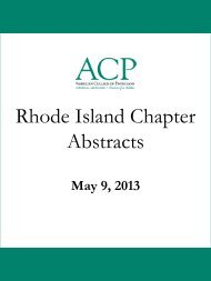 Rhode Island Chapter Abstracts - American College of Physicians