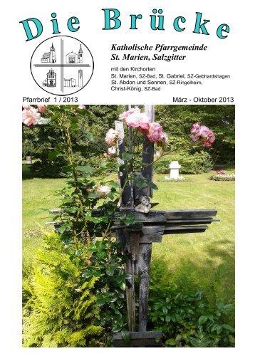 Pfarrbrief St. Marien SZ-2013-1-Auszug - Bistum Hildesheim