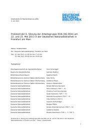 6. Sitzung der AG RDA am 22. und 23. Mai 2013 - Deutsche ...