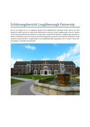 Erfahrungsbericht Loughborough University