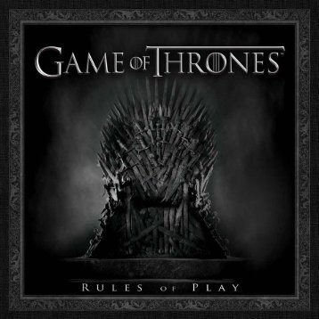 Game of Thrones: Rules of Play - Fantasy Flight Games