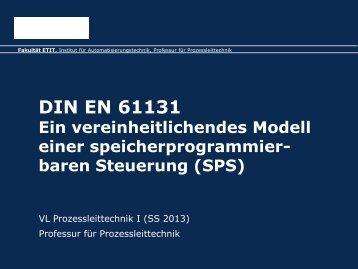 PLT-Detail: IEC 61131 - Fakultät Elektrotechnik und ...