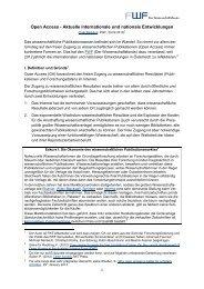 Open Access - Aktuelle internationale und nationale ... - FWF