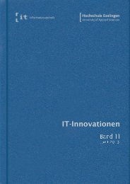 it-Innovationen Sommersemester 2013 Band 11 - Hochschule ...