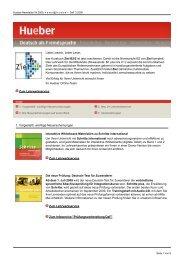 Deutsch als Fremdsprache 3/2009 - Hueber