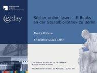 Bücher online lesen - E-Books an der Staatsbibliothek zu Berlin