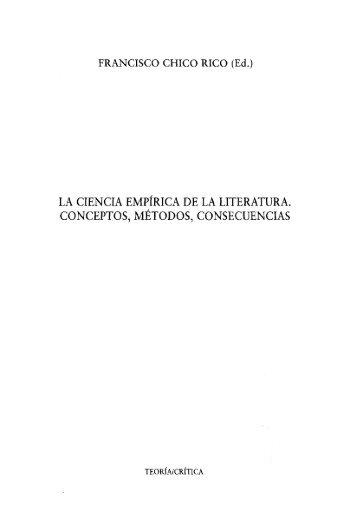 la ciencia empírica de la literatura. conceptos, métodos ... - RUA