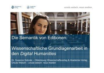 Die Semantik von Editionen: Wissenschaftliche Grundlagenarbeit in ...
