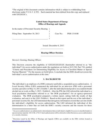 *The original of this document contains information which is subject ...