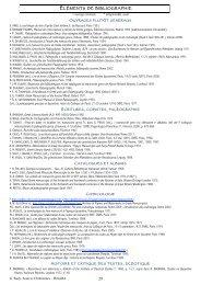 29 ÉLÉMENTS DE BIBLIOGRAPHIE - Hypotheses