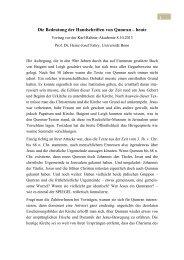 Die Bedeutung der Handschriften von Qumran – heute - Kath.de