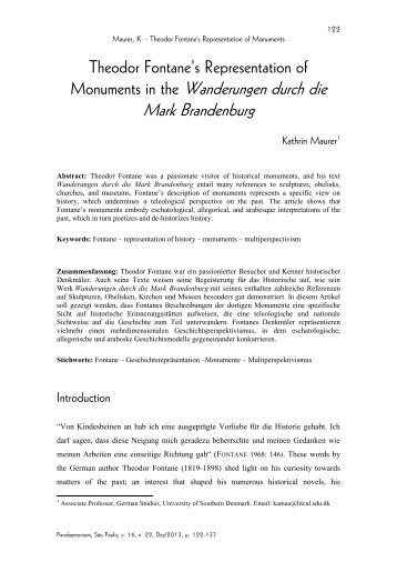 Monuments in the Wanderungen durch die Mark Brandenburg