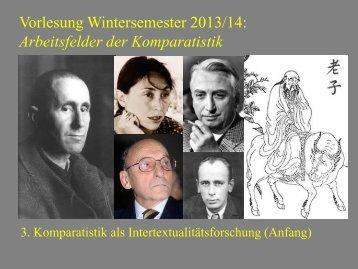 Arbeitsfelder der Komparatistik 3 - Heinrich Detering
