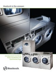 Front Load Washers and Stack Washer/Dryer Specifications Huebsch