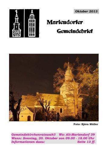 Oktober 2013 - Evangelische Kirchengemeinde Mariendorf