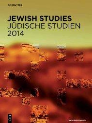 JewisH studies JüdiSChE StudiEN 2014 - Walter de Gruyter