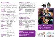 Flyer Ferien-Kultur-Projekte Ich packe meinen ... - der Stadt Ahlen