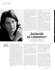"""""""Solidarität als Lebensform"""" - Die Deutsche Bühne"""