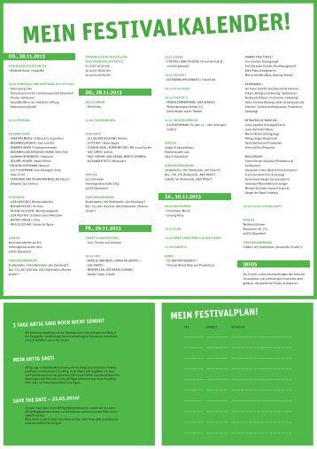 festivalprogramm - Düsseldorf ist ARTig