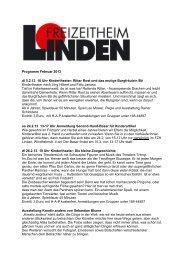 Programm Februar 2013 di 5.2.13 10 Uhr Kindertheater: Ritter Rost ...