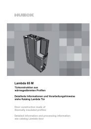 12-Einsatzelemente-Lambda Tür-65 M.pdf - HUECK + RICHTER ...