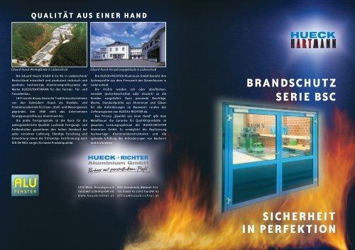 brandschutz serie bsc sicherheit in perfektion - HUECK + RICHTER ...