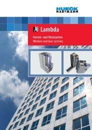 Lambda - HUECK + RICHTER Aluminium GmbH
