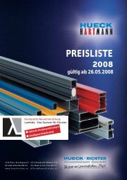 PREISLISTE 2008 - HUECK + RICHTER Aluminium GmbH