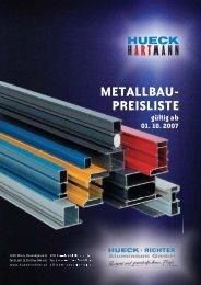 metallbau–preisliste 2/2007 - HUECK + RICHTER Aluminium GmbH