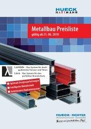 Metallbau Preisliste - HUECK + RICHTER Aluminium GmbH