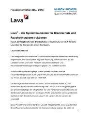 Lava - HUECK + RICHTER Aluminium GmbH