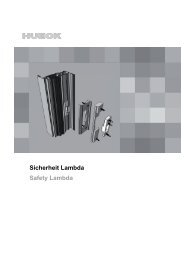 Serie LAMBDA - HUECK + RICHTER Aluminium GmbH