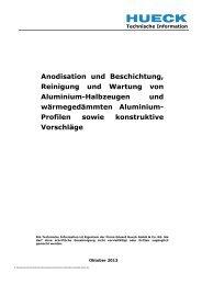 Technische Information - HUECK + RICHTER Aluminium GmbH