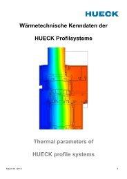 Stand 05/2013 - HUECK + RICHTER Aluminium GmbH