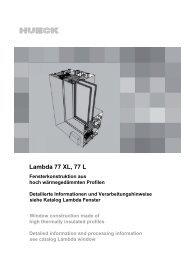 12-Einsatzelemente-Lambda Fenster-77L.pdf - HUECK + RICHTER ...
