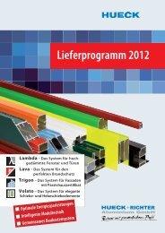 Lieferprogramm 2012 - HUECK + RICHTER Aluminium GmbH