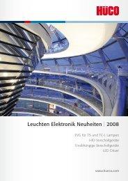 Leuchten Elektronik Neuheiten | 2008 - Hüco Electronic GmbH
