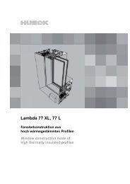 Serie LAMBDA 77 L - HUECK + RICHTER Aluminium GmbH