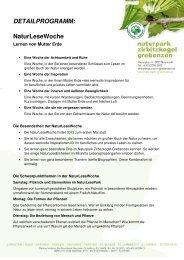 NaturLeseWoche - Naturpark Zirbitzkogel-Grebenzen