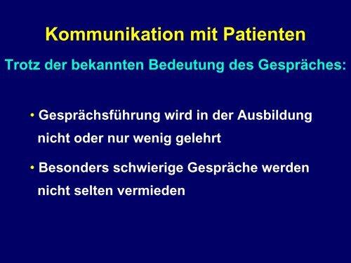 Kommunikation mit Patienten