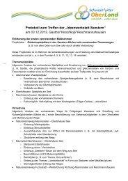 """Protokoll zum Treffen der """"Ideenwerkstatt Seestern"""" - Schweinfurter ..."""