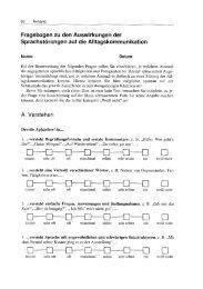 Fragebogen zu den Auswirkungen der Sprachstörungen auf die ...