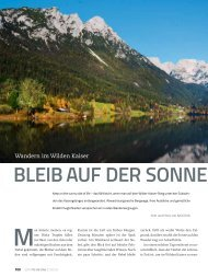Panorama 2 2013 Reportage: Wandern im Wilden Kaiser